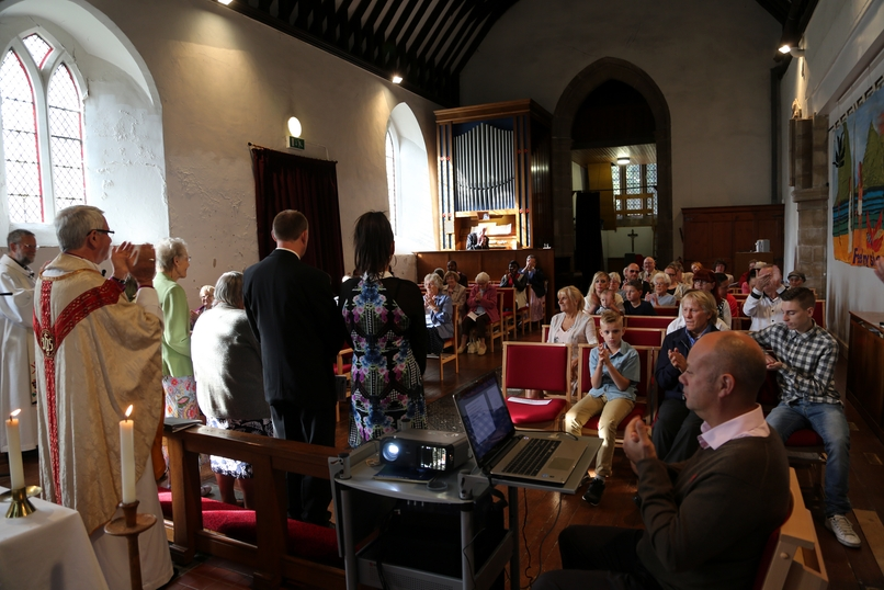 The congregation welcome our new members