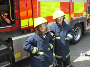 Photo: Two new trainee fire crew